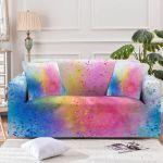 Over The Rainbow Spray Pattern Sofa Cover
