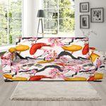 Cherry Blossom Koi Fish Pattern Background Sofa Cover