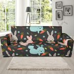 Carrot Rabbit Bunny Pattern Background Sofa Cover