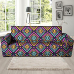Colorful Multicolor Ethic Aztec Grunge Print Sofa Cover