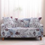 Floral Garden Pattern White Theme Well Designed Sofa Cover