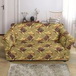 Western Cowboy Themed Pattern Print Sofa Cover