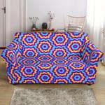 Optical Illusion Techno Movement Pattern Sofa Cover