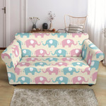 Elephant Baby Pastel Face To Face Bright Theme Sofa Cover