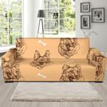 Head German Shepherd Background Sofa Cover