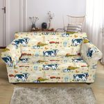 Cow Farm Design Animal Pattern Sofa Cover