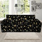 Golden Paw And Black Skin Pattern Sofa Cover