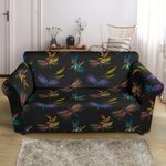 Dragonfly Colorful Realistic Pattern Sofa Cover
