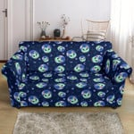Alien Cat Cartoon Cute Pattern Sofa Cover