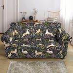 Deer Floral Jungle Style Pattern Print Sofa Cover
