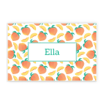Peach Summer Fruits Custom Name Printed Placemat Table Mat