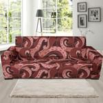 Dangerous Octopus Squid Tentacle Pattern Theme Sofa Cover