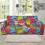 Different Color Monster Funny Pattern Sofa Cover