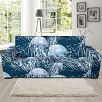 Realistic Jellyfish Theme Sofa Cover