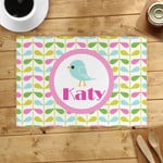 Custom Name Printed Placemat Table Mat Colorful Leaves Bird