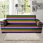 Neon Mexican Baja Pattern Print Sofa Cover