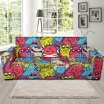 Multi Monster Colors Funny Cute Pattern Sofa Cover