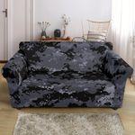 Acu Digital Black Camo Pattern Sofa Cover