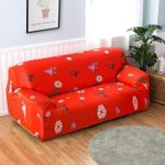 Captivating Christmas Tree Reindeer Snowflake Red Theme Sofa Cover