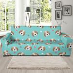 Beagle Paw Illustration Sofa Cover