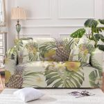 The Tropical Garden With Many Pineapples Sofa Cover
