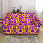 Golden Optical Illusion Expansion Pattern Sofa Cover