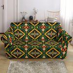 Kente Green African Pattern Sofa Cover