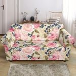 Floral Pink Butterfly Cute Pattern Sofa Cover