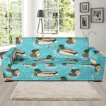 Mallard Duck Swimming In The Lake Pattern Sofa Cover
