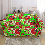 Ladybug With Leaf Bugs Cute Pattern Sofa Cover