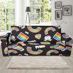 Lgbt Pride Rainbow Gay Pattern Sofa Cover