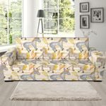 Cute Donkey Pattern Background Sofa Cover