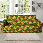 Tropical Reggae Leaf Beauty Sofa Cover