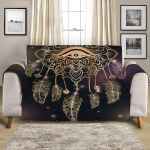 Magical Dreamcatcher Black Theme Sofa Couch Protector Cover