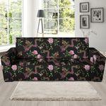 Romantic Floral Janpanese Dragon Print Sofa Cover