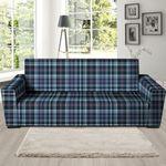 Tartan Blue Plaid Artistic Theme Sofa Cover