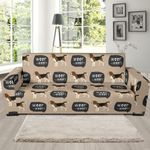 Woof Woof Beagle Pattern Sofa Cover