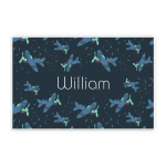 Custom Name Printed Placemat Table Mat Airplane Flying Blue Sky