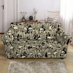 Many Skeleton Design Pattern Print Sofa Cover