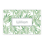 Green Palm Leaves Custom Name Printed Placemat Table Mat