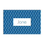 Classic Blue Pineapple Custom Name Printed Placemat Table Mat