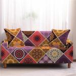 Mandala Elastic Texture Staggering Design Sofa Cover