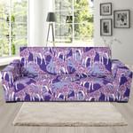 Giraffe Purple Pattern Background Sofa Cover
