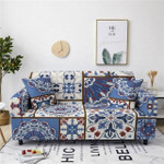 Boho Style Elegant Design Blue Theme Sofa Cover