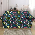 Paw And Bone Design Print Sofa Cover