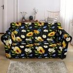 Sunflower Chamomile Bright Floral Pattern Sofa Cover
