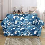 Wave Themed Pattern Print Sofa Cover