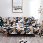 Arissa Geometric Pattern Dark Theme Sofa Cover