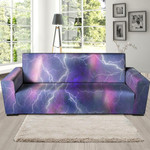 Lightning Aurora And Romatic Galaxy Space Sofa Cover