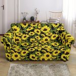 Sunflower Fresh Floral Yellow Bright Pattern Sofa Cover